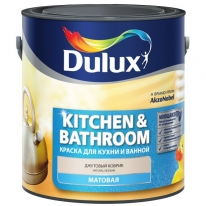 Краска полуматовая для стен и потолков Dulux Kitchen&Bathroom 2,5 л