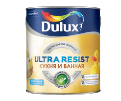 Краска для влажных, Кухня и ванная Dulux Ultra Resist 2,5 л (база BC)
