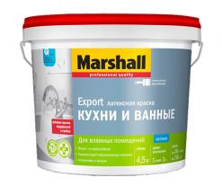 Краска для Кухни и Ванной Marshall 0,9 л белый (база BW)