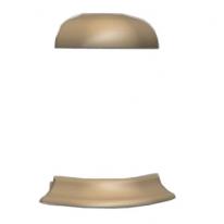 Угол для плинтуса Prexa LD 55 A-D5NZ1-55 Металлик 1 наружный (2шт/уп)
