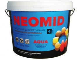 Пропитка для дерева, антисептик лессирующий Neomid Bio Color Aqua 0,9 л (морозное небо)