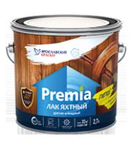 Лак яхтный, глянцевый Ярославские Краски Premia 2,7 л