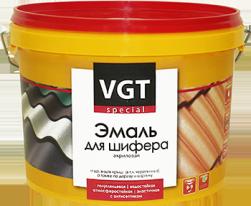 Эмаль темно-коричневая акриловая для шифера полуглянцевая VGT ВДАК 1179 2,5 кг