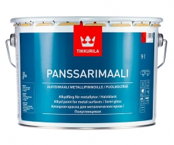 Краска алкидная полуглянцевая по металлу и оцинковке Tikkurila/Panssarimaali  9 л (база C)