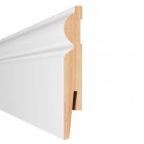 Плинтус Aberhof Art МДФ 1101 белый под покраску 110х16х2400 мм