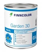 Эмаль алкидная полуматовая бесцветный Tikkurila Finncolor Garden 30 0,9 л (баз С)