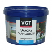 Эмаль супербелая акриловая, глянцевая VGT ВДАК 1179 2,5 кг