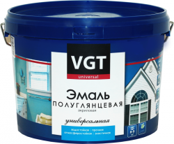 Эмаль супербелая акриловая полуглянцевая VGT ВДАК 1179 1 кг