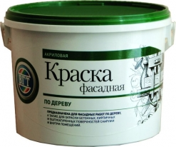 Краска белая фасадная по дереву VGT ВДАК 1180 3 кг