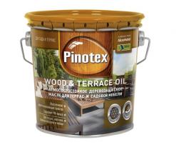 Масло деревозащитное для дерева и террас Pinotex Wood & Terrace Oil 2,7 л