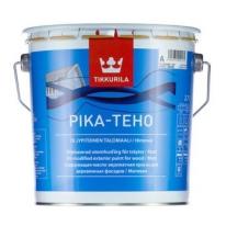 Краска матовая водорастворимая фасадная для дерева Tikkurila Pika Teho 0,9 л (база С)