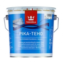 Краска матовая водорастворимая фасадная для дерева Tikkurila Pika Teho 2,7 л (база С)
