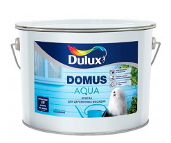 Краска для деревянных фасадов полуматовая Dulux Domus Aqua 2,25 л (база BC)