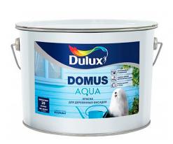 Краска для деревянных фасадов полуматовая Dulux Domus Aqua 10 л (база BC)