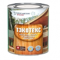 Защитно декоративный состав для в/н работ Ярославские краски Текотекс 9 л (рябина)