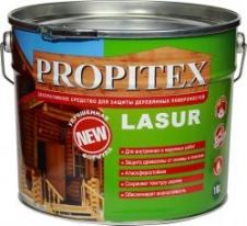 Антисептик для защиты, дерева Profilux Propitex Lasur 10 л (орех)