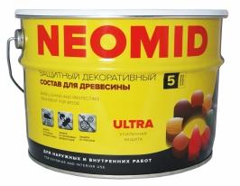 Деревозащитный состав для наружных и внутренних работ Neomid Bio Color Ultra 9 л (рябина)