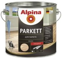 Лак шелковисто матовый паркетный Alpina Parkett 2,5 л