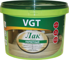 Лак акриловый для паркета и дерева внутри помещений VGT 0,9 кг