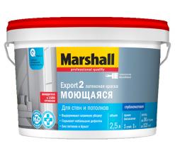 Краска интерьерная бесцветный Marshall Export 2 2,5 л (база BC)
