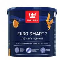 Краска интерьерная, глубокоматовая белый Tikkurila Finncolor Euro Smart 2 2,7 л
