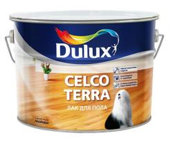 Лак для паркета глянцевый Dulux Celco Terra 90 10 л
