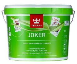 Краска матовая экологичная, интерьерная Tikkurila Joker 9 л (база А)