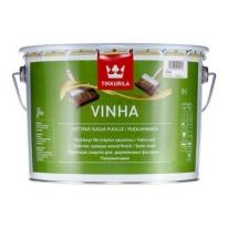 Антисептик полуматовый кроющий для древесины водорастворимый Tikkurila Vinha 9 л (база А)