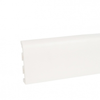 Плинтус ПВХ Korner Idea 120 под покраску белый 120х19х2500 мм