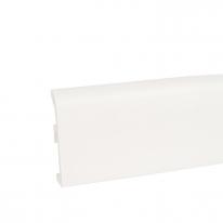 Плинтус ПВХ Korner Idea 80 под покраску белый 80х19х2500 мм