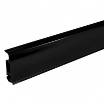 Плинтус ПВХ Arbiton Indo 18 Черный Блеск 2500х70х26 мм