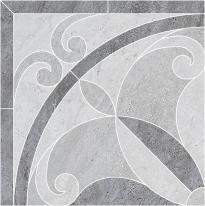 Декор Kerama Marazzi ID50 Монтаньоне 1/4 розона наборный серый полупол (лапп) 42×42