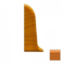 Заглушка для плинтуса ПВХ KronPlast Premium 536 Бук Белый левая