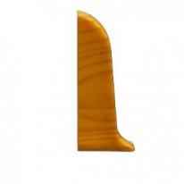 Заглушка для плинтуса ПВХ KronPlast Premium 102 Серебристо-серая левая