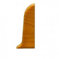 Заглушка для плинтуса ПВХ KronPlast Premium 102 Серебристо-серая правая