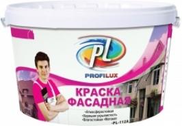 Краска фасадная влагостойкая белый (розовая эт) Profilux PL 112 A 3 кг