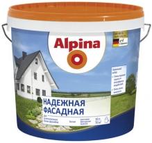 Краска фасадная матовая ослепительно белая Alpina 5 л