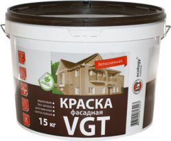 Краска фасадная, белоснежная VGT ВДАК 1180 7 кг