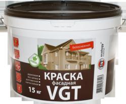 Краска фасадная, белоснежная VGT ВДАК 1180 15 кг