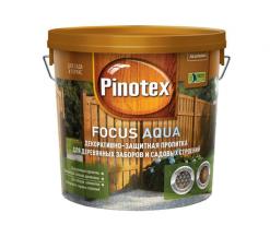 Пропитка защитная для заборов Pinotex Focus 2,7 л (рябина)