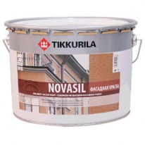 Краска силиконовая, фасадная Tikkurila Novasil 9 л (база С)