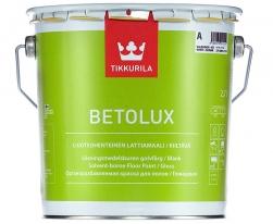 Краска алкидно-уретановая для пола Tikkurila Бетолюкс / Betolux 9 л (база А)