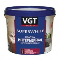 Краска супербелая акриловая, влагостойкая интерьерная VGT 7 кг