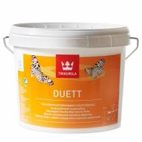 Краска глубоко матовая для стен и потолков Tikkurilla Duett 3 л (зен)