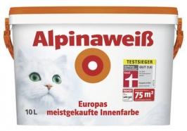 Краска матовая, белоснежная для стен и потолков Alpina Alpinaweiss 2,5 л