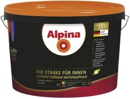 Краска матовая суперстойкая интерьерная для стен и потолков Alpina 2,5 л