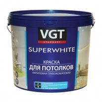 Краска супербелая для потолка VGT 15 кг