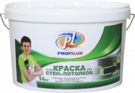 Краска для стен и потолков акриловая Profilux PL 04 14 кг зеленая