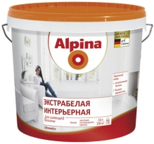 Краска матовая, экстрабелая интерьерная для стен и потолков Alpina 5 л