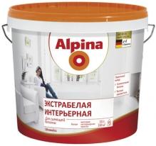 Краска матовая, экстрабелая интерьерная для стен и потолков Alpina 10 л